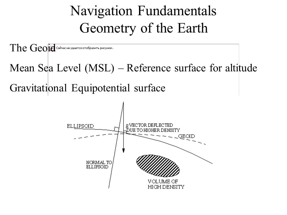 Navigation Fundamentals Geometry of the Earth The Geoid is a very irregular shape.