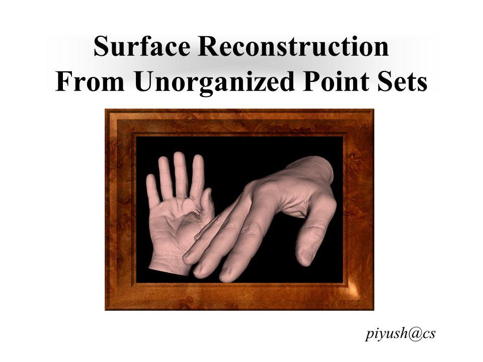 Example Reconstruction Surface Reconstruction Algorithm