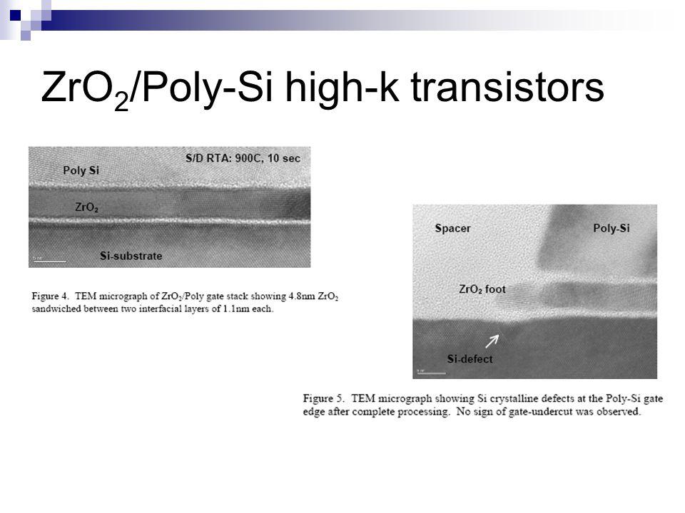 ZrO 2 /Poly-Si high-k transistors