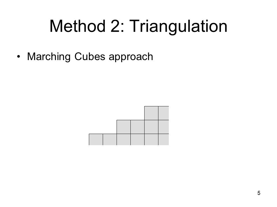 5 Method 2: Triangulation Marching Cubes approach