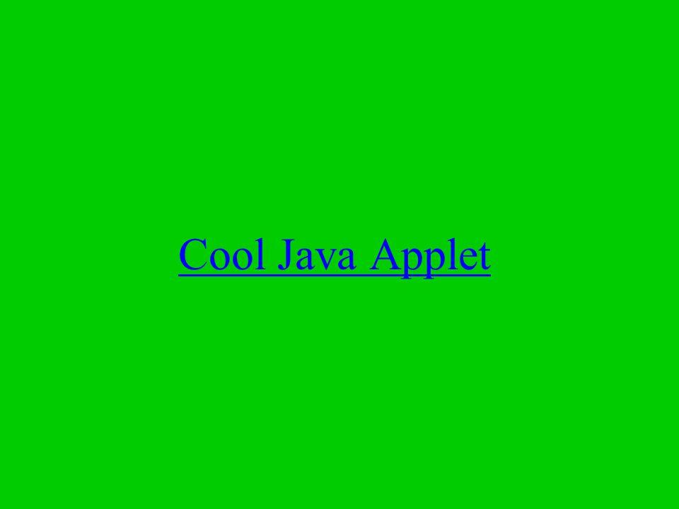 Cool Java Applet