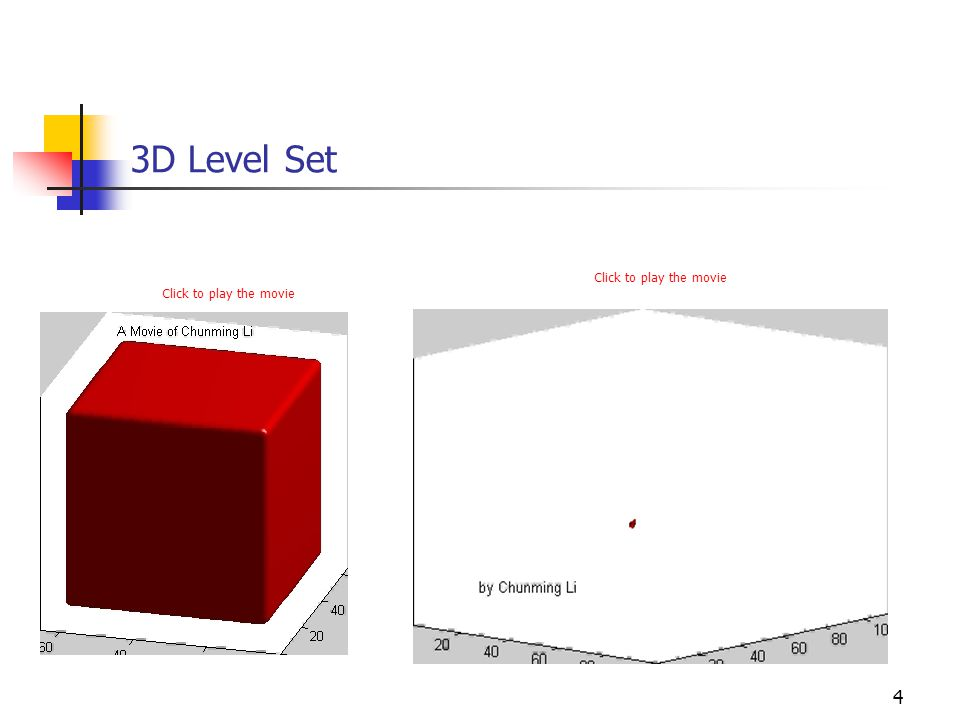 4 3D Level Set Click to play the movie