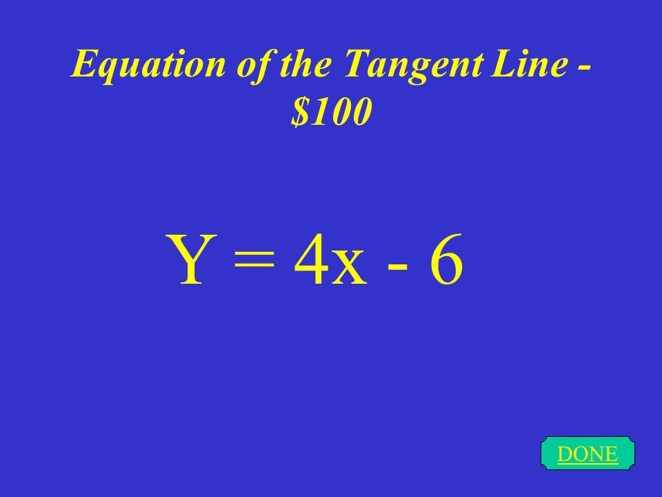 Basic Derivative Rules - $500 DONE