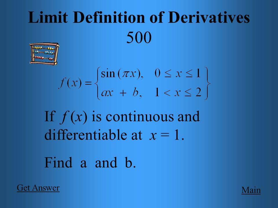 Main Limit Definition of Derivatives 400 if.