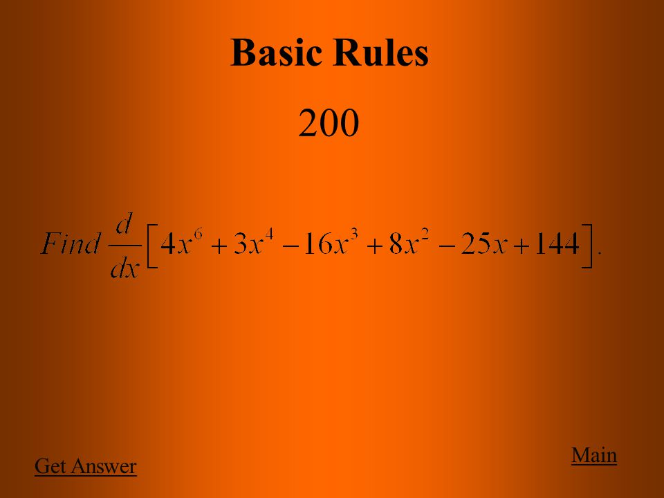 Main Basic Rules 100 c)
