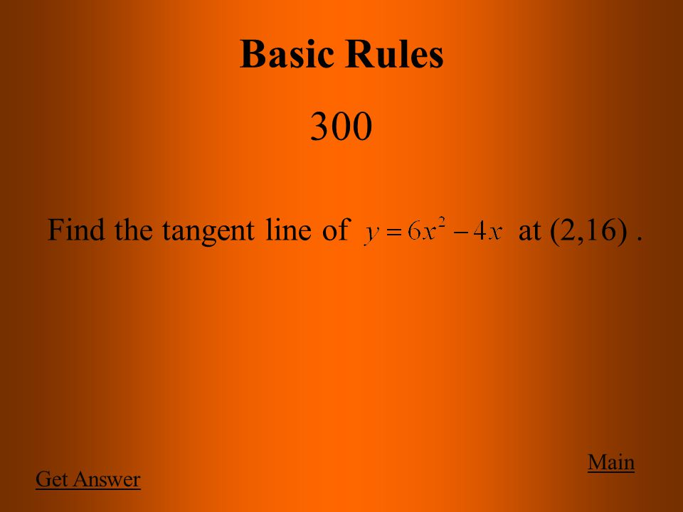 Main Basic Rules 200