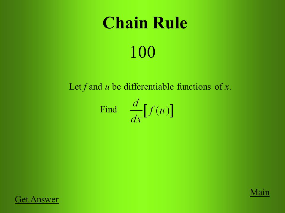 Product, Quotient, and Higher Order Derivatives 500 Main