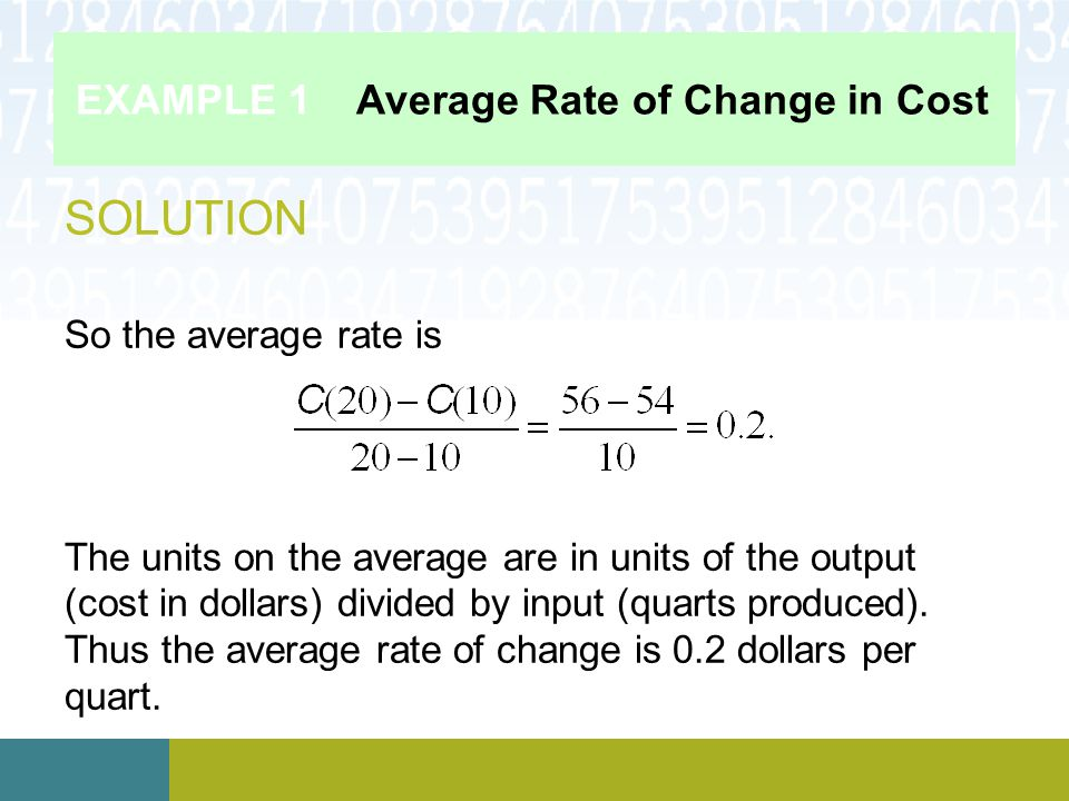 EXAMPLE 4 Change in U.S.