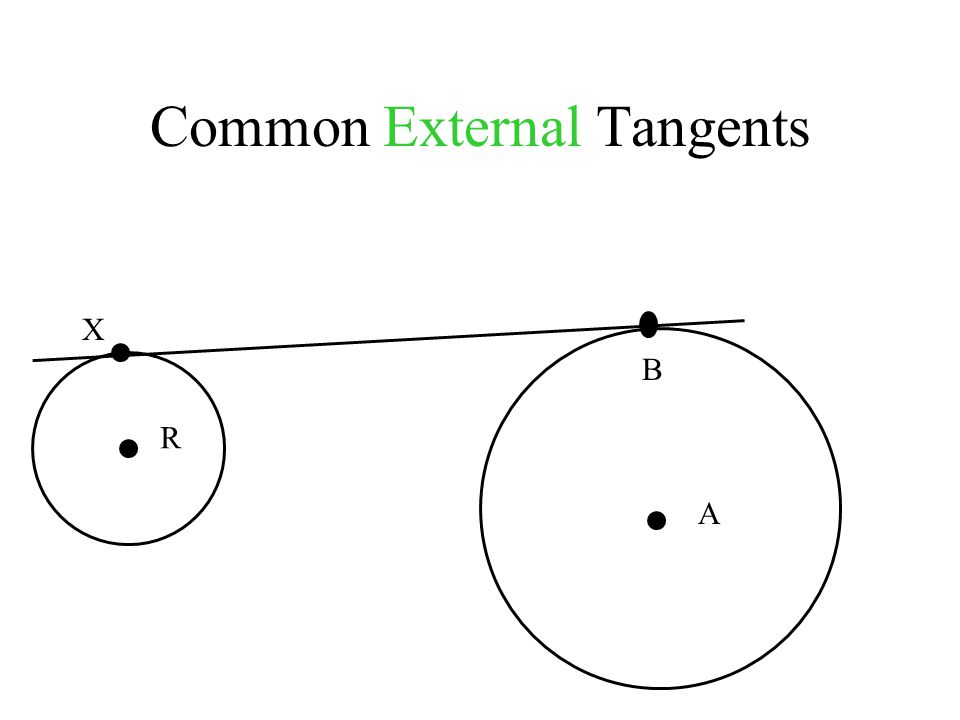 Common External Tangents A X B R