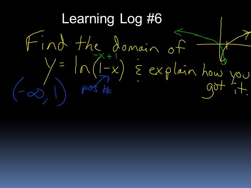 Learning Log #6