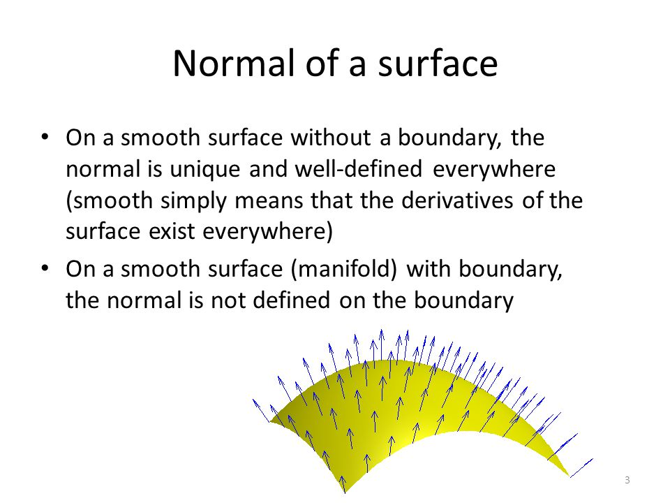 Normal of a surface 4