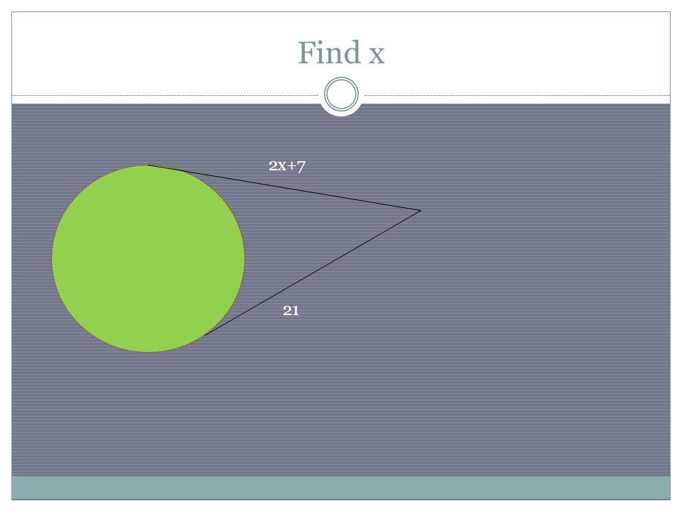 Find x 2x+7 21