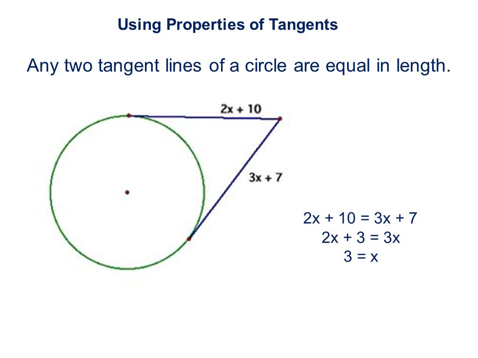 Any two tangent lines of a circle are equal in length.