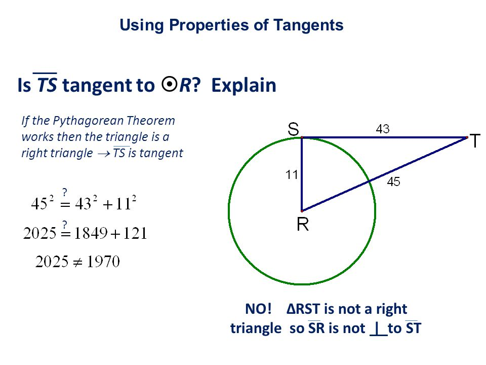 Is TS tangent to  R.