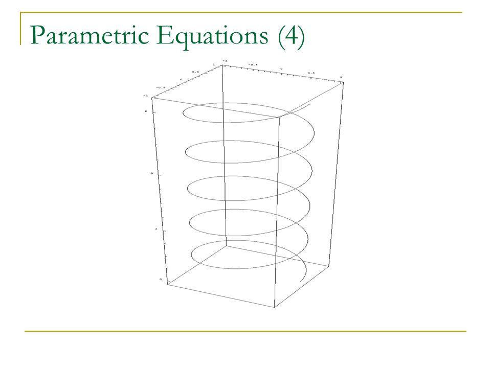 Parametric Equations (4)
