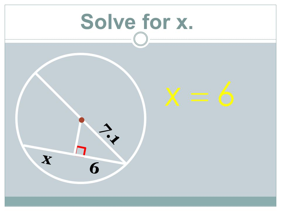 Solve for x.  7.1 6 x