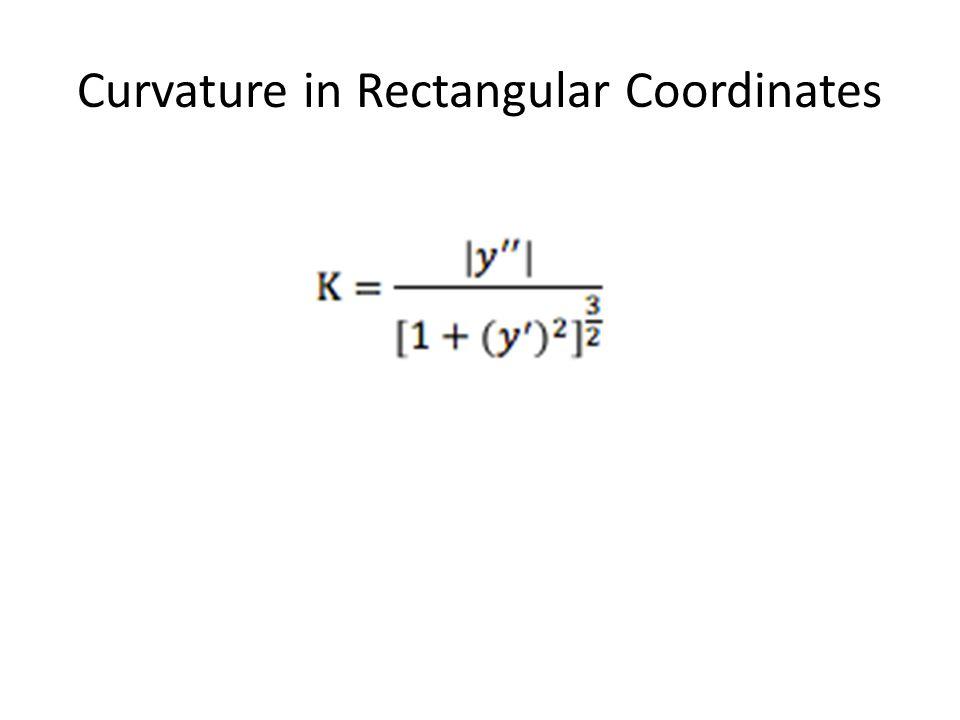 Curvature in Rectangular Coordinates