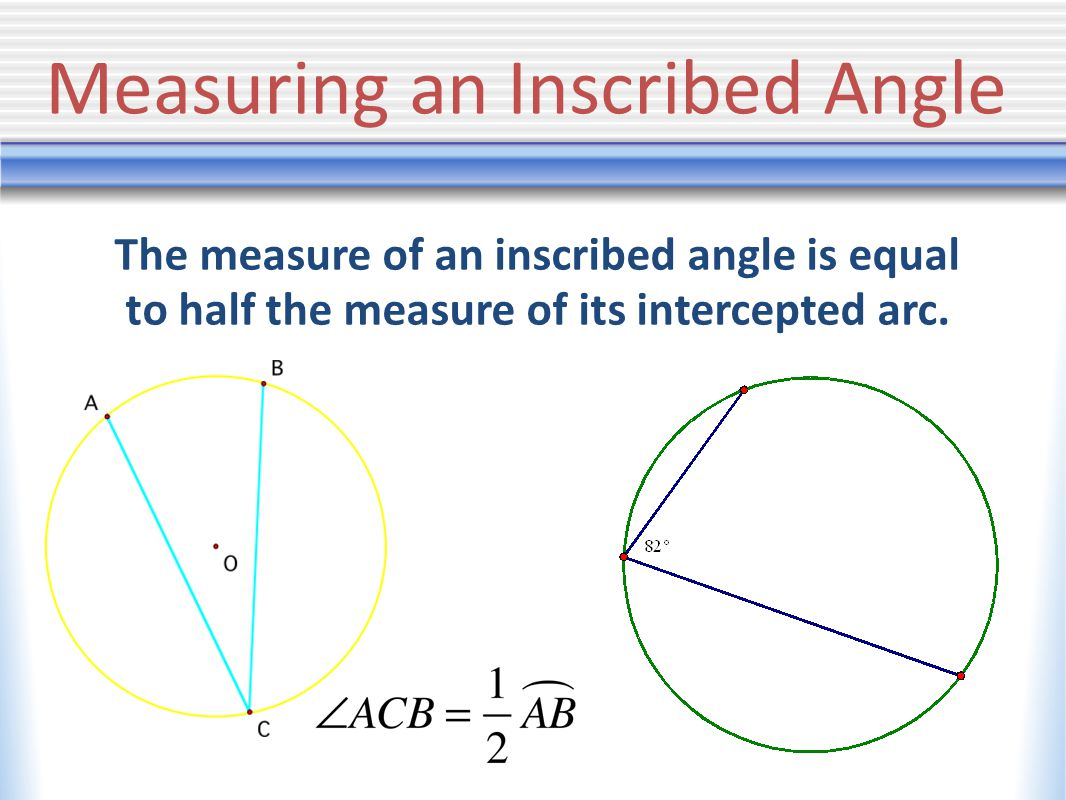 Corollaries If two inscribed angles intercept the same arc, then the angles are congruent.