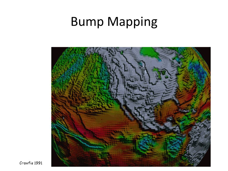 Bump Mapping Consider the lighting for a modeled surface.