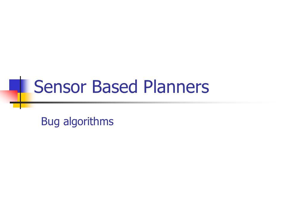 Sensor Based Planners Bug algorithms