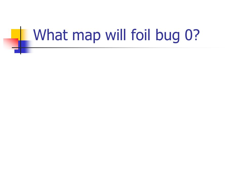 What map will foil bug 0?