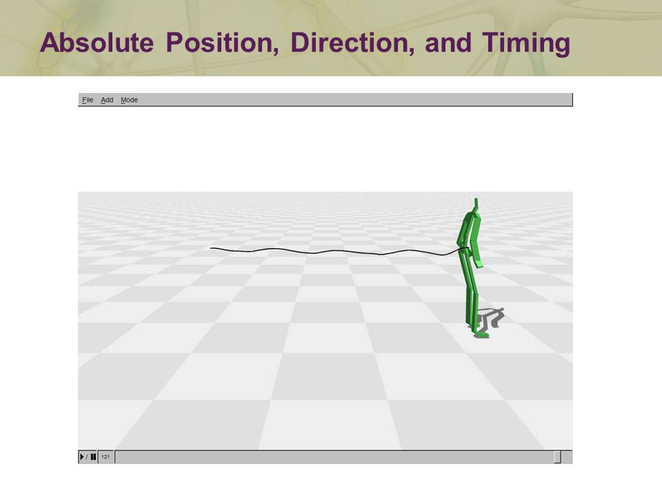 Absolute Position, Direction, and Timing