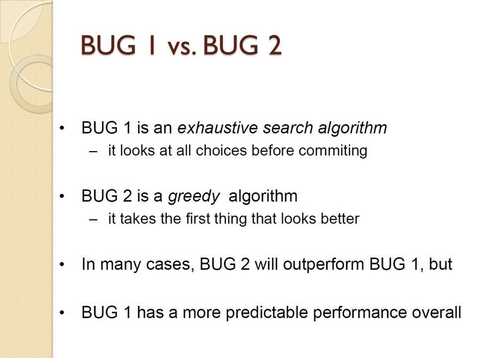 BUG 1 vs. BUG 2