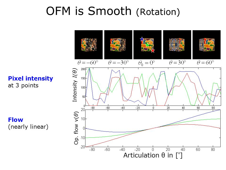 OFM is Smooth (Rotation) Articulation θ in [ ⁰ ] Intensity I(θ) Op.