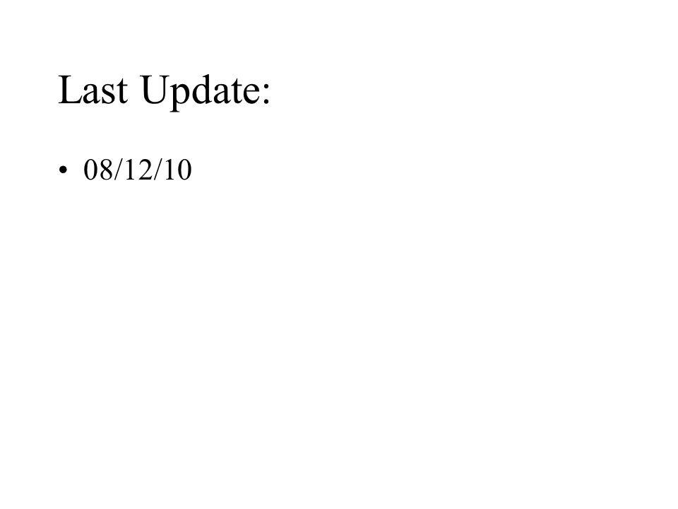 Last Update: 08/12/10
