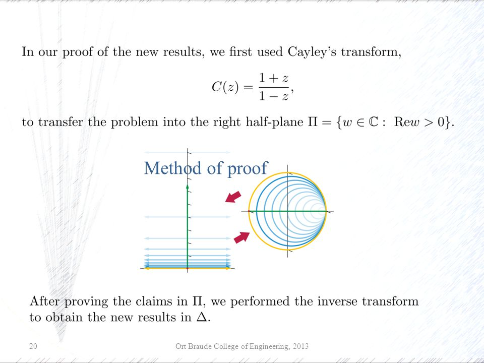 Ort Braude College of Engineering, 201320 Method of proof