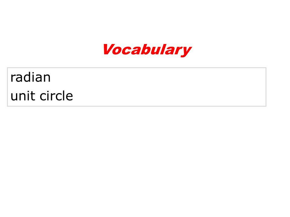 radian unit circle Vocabulary