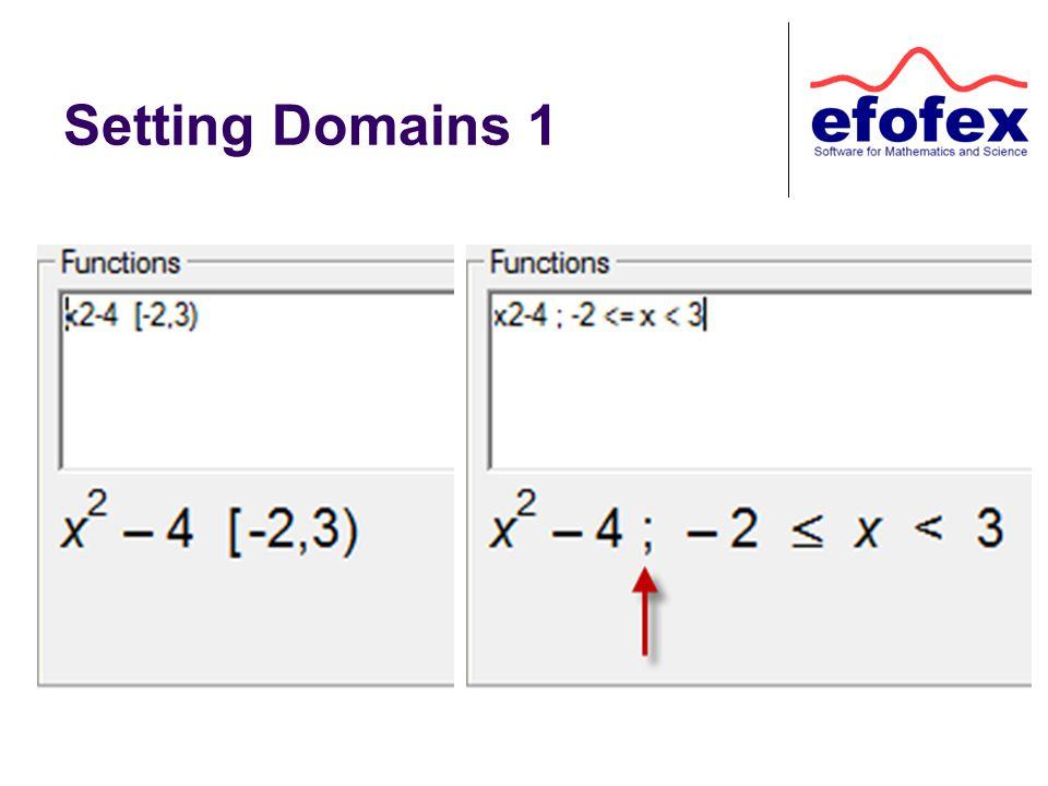 Setting Domains 1