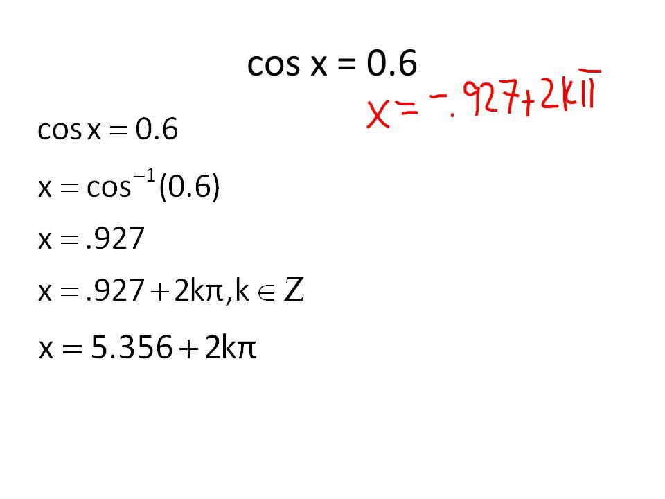 cos x = 0.6