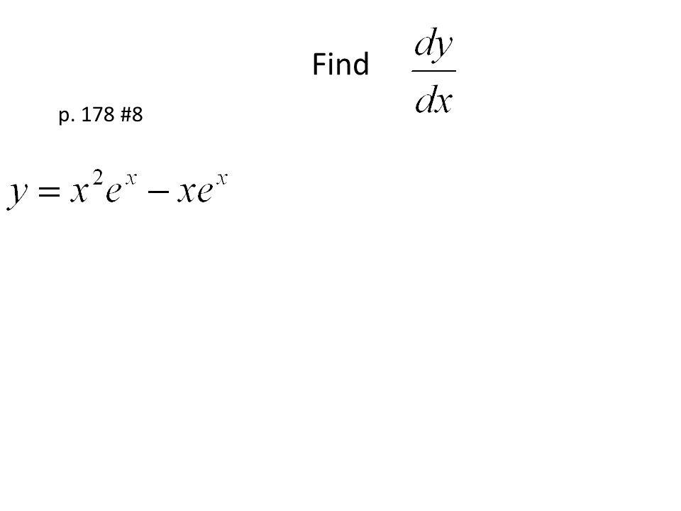 Find p. 178 #8