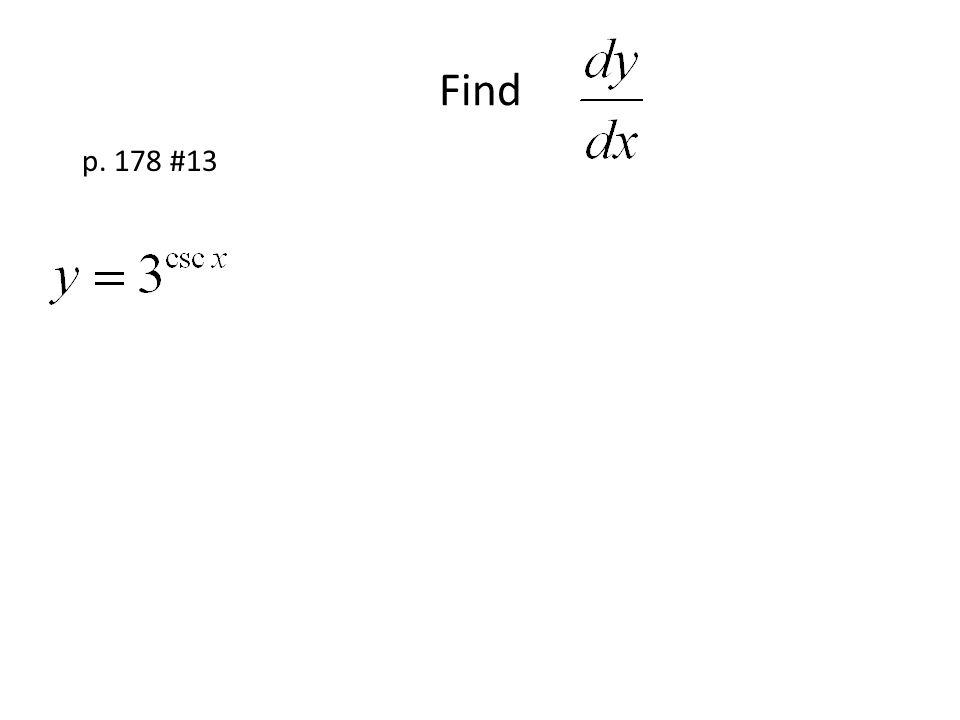 Find p. 178 #13