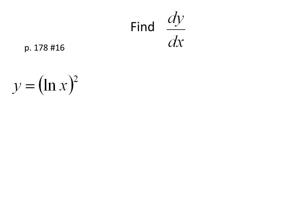 Find p. 178 #16
