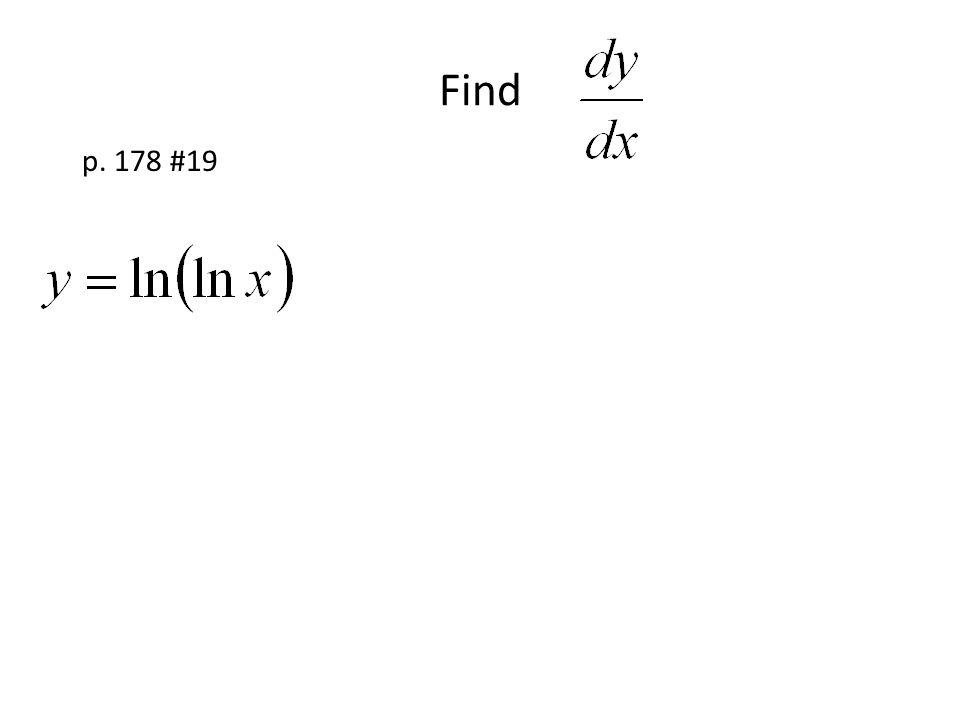Find p. 178 #19