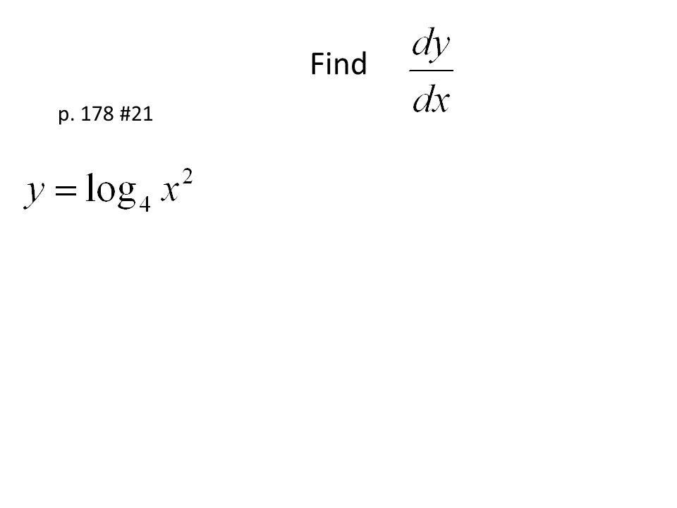 Find p. 178 #21