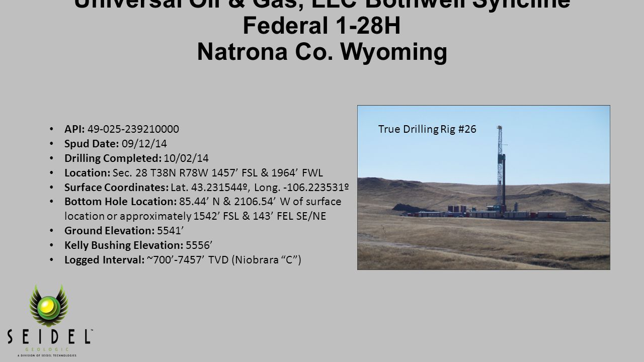 Universal Oil & Gas, LLC Bothwell Syncline Federal 1-28H Lateral Operations Cont.