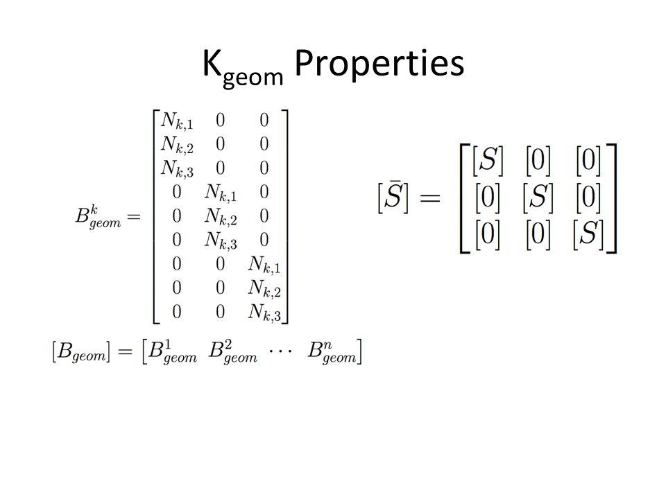 K geom Properties