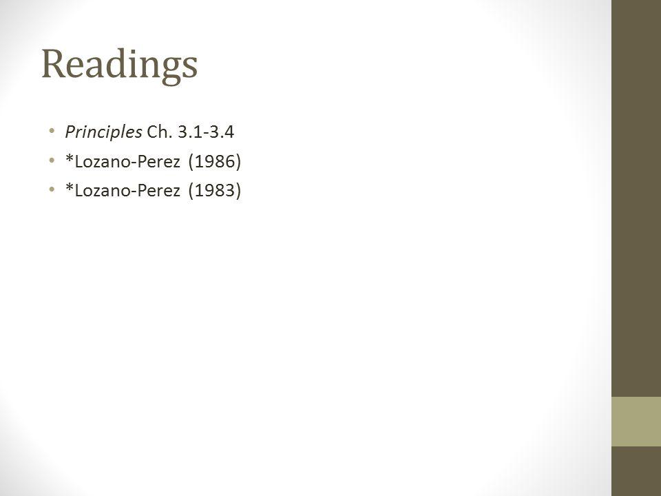 Readings Principles Ch. 3.1-3.4 *Lozano-Perez (1986) *Lozano-Perez (1983)