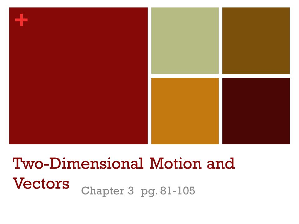 + Two-Dimensional Motion and Vectors Chapter 3 pg. 81-105