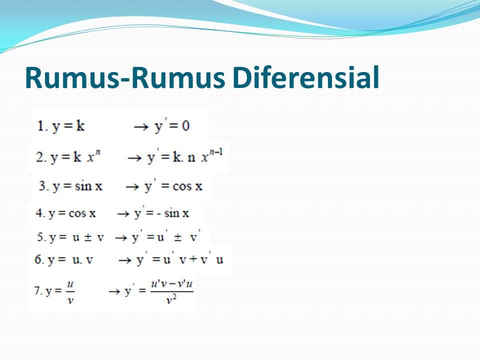 Rumus-Rumus Diferensial