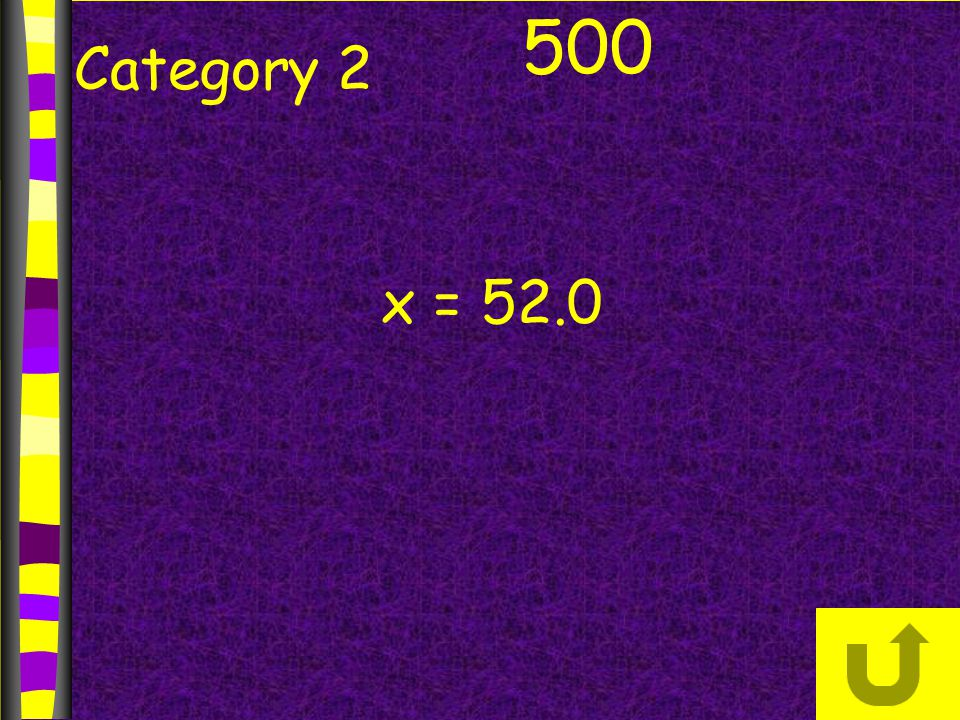 Category 2 500 x = 52.0