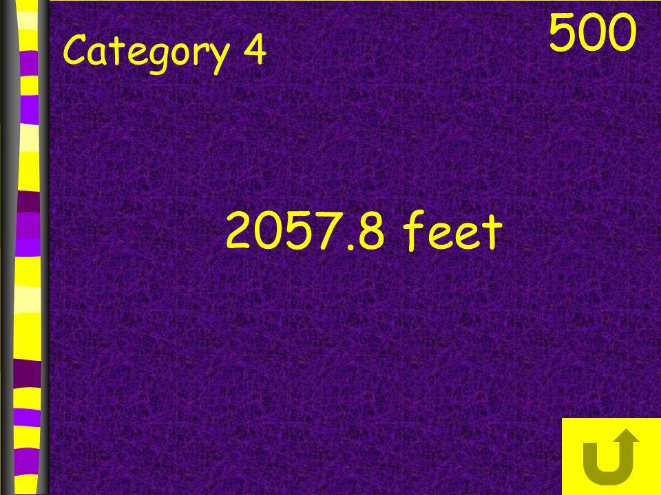500 Category 4 2057.8 feet