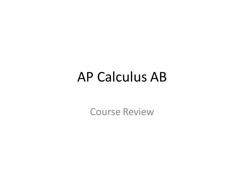 AP Calculus AB Course Review