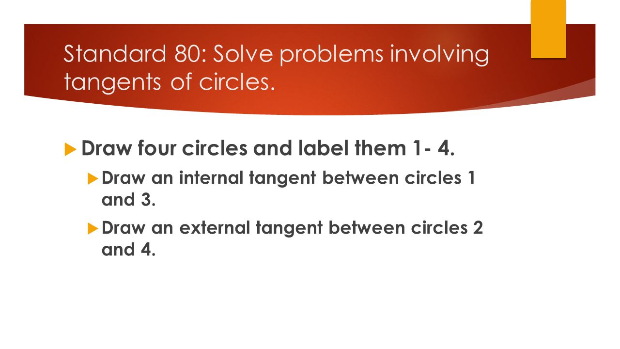 Standard 81: Measure central angles and arcs of circles.