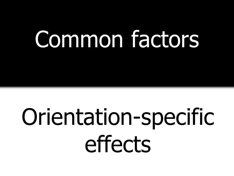 Common factors Orientation-specific effects