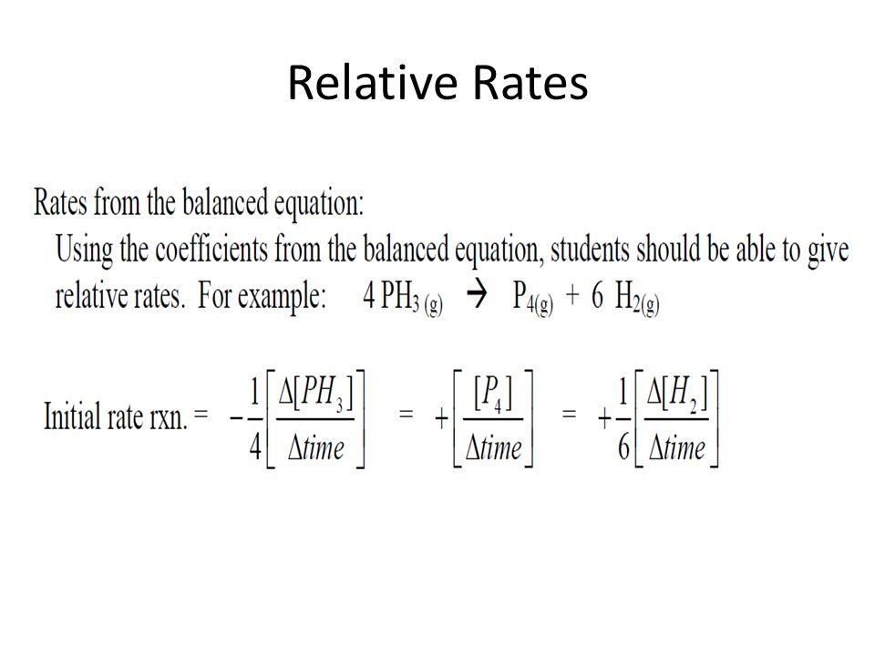 Relative Rates