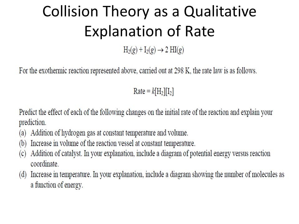Collision Theory as a Qualitative Explanation of Rate